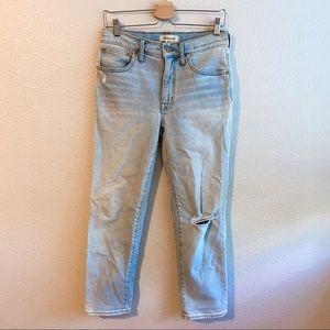 Madewell Mid-Rise Classic Straight Leg Denim Jeans